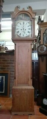 Antique Oak 8 Day Grandfather Clock - W Easton, Newcastle upon Tyne Del.arranged