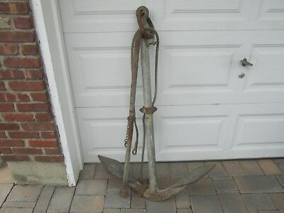 """Antique Large Ships Boat Anchor 51"""" High"""