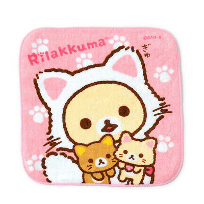 ハンカチ HANKACHI Mouchoir リラックマ RILAKKUMA NONBIRI 06 - Import direct Japon