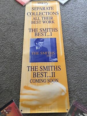The Smiths Original USA Sire Import Promotional Poster BEST I & II Morrissey