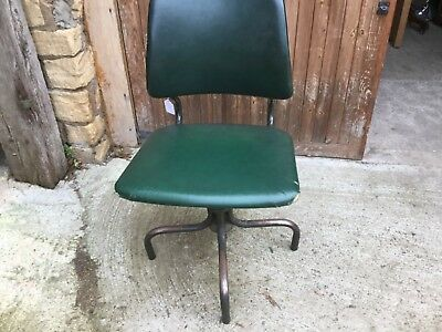 Vintage Industrial machinists height adjustable chair