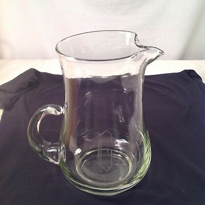 Huge 96oz Crystal Water Pitcher With Ice Catcher Lip Monogramed G