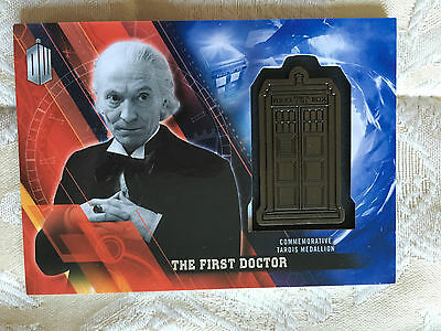 Topps Doctor Who Timeless 2016 Silver Medallion Card First Doctor 01/25