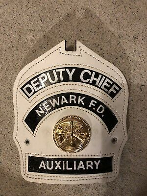 Newark Deputy Chief Leather Fire Front