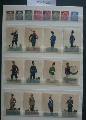 German Ww1 ,picture Cards /,stamps 1914/18 German Army ,kaiser,somme,