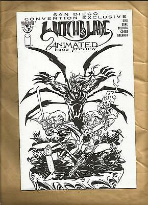 Witchblade Animated San Diego Preview 2003 rare Promo giveaway Image Comics