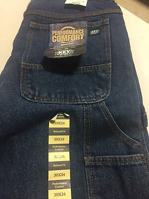 New With Tags 5 Pocket Carpenter Jeans Relaxed Fit By K E Y 30x 34