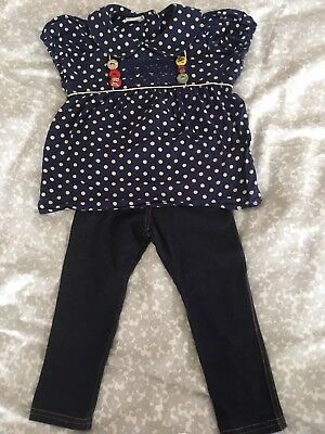 baby girl trendy top and leggings Next, Mothercare 18-24 months