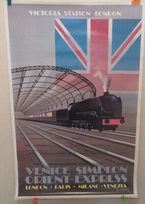 Affiche originale ORIENT EXPRESS Fix Masseau London Victoria Station