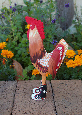 NAVAJO FOLK ART-ROOSTER IN TENNIS SHOES by MATTHEW YELLOWMAN-NATIVE AMERICAN