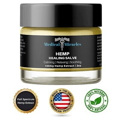 CBD Hemp Pain Cream Salve - 100mg Full Spectrum CBD Extract - Fast Pain Relief