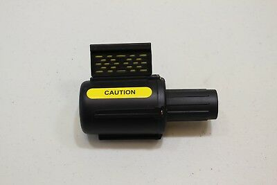 Banner Stakes retractible yellow caution belt barrier head only