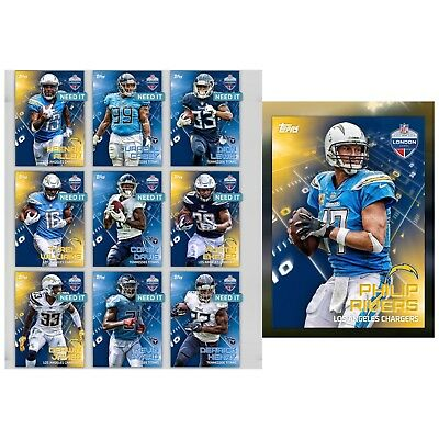 18-19 INTERNATIONAL SERIES 2 CHARGERS & TITANS SET OF 10 Topps Huddle Digital