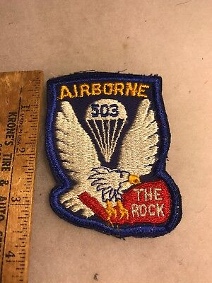 US 503rd Airborne Infantry Patch The Rock Twill (A793
