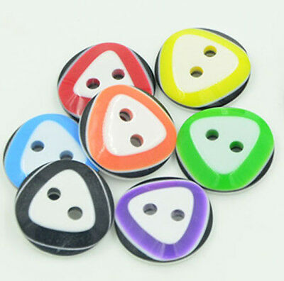 Triangle Design 2 hole Round buttons 12mm wide 9 Different  Colours #1