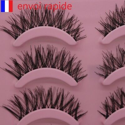 faux cils chaud 5 pairs