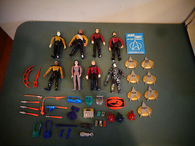 Lot Of Playmates Star Trek Action Figures With Some Accessories