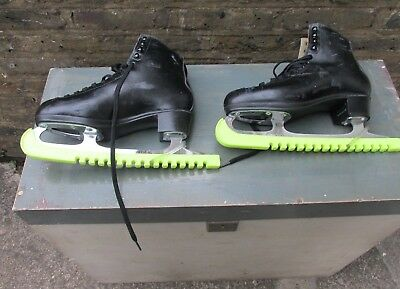 A Pair Of Risport Laser Ice Skating Boots With Blades Made In Italy Uk Size 8