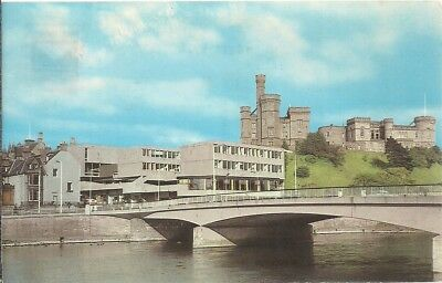 Lovely Old Postcard - Castle And Ness Bridge - Inverness - Inverness-Shire 1976