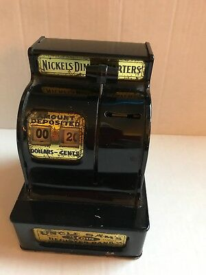Vintage Uncle Sam's 3-Coin Register Bank Western Stamping Co. Collectible