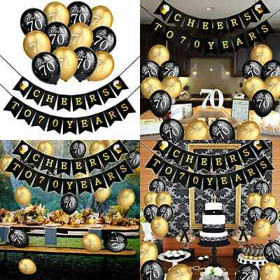 70Th Birthday Party Decorations Kit Cheers To Banner For Her Him Celebration Lat