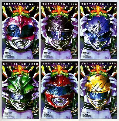 Mighty Morphin Power Rangers Shattered Grid #25 Helmet Set Signed Higgins W/ Coa