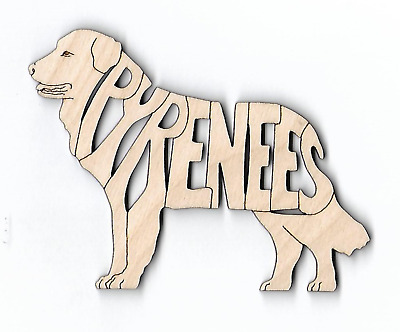 Great Pyrenees laser cut and engraved wood Magnet