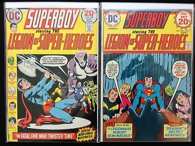 SUPERBOY Lot of 2 DC Comic Books - #198 204 - Legion of Super-Heroes!