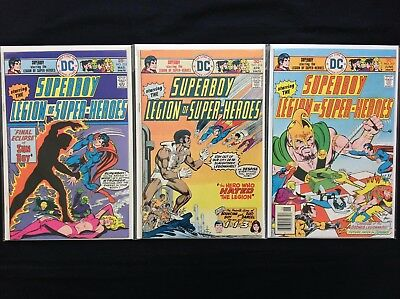 SUPERBOY Lot of 3 DC Comic Books - Run #215 216 217 - Legion of Super-Heroes!