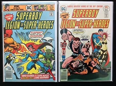 SUPERBOY Lot of 2 DC Comic Books - #220 221 - Legion of Super-Heroes - Hi Grade!