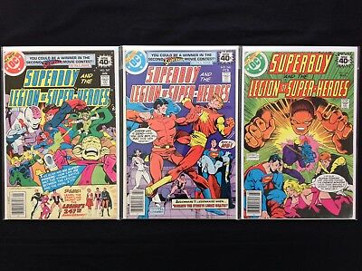 SUPERBOY Lot of 3 DC Comic Books - Run #247 248 249 - Legion of Super-Heroes!