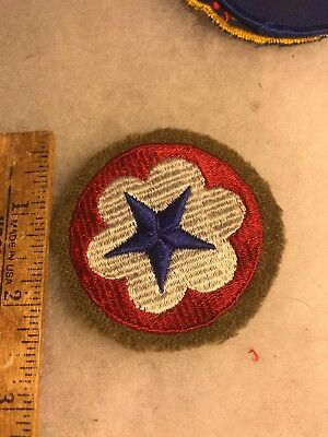 WW2 US Army Service Forces Patch Wool Border (A824