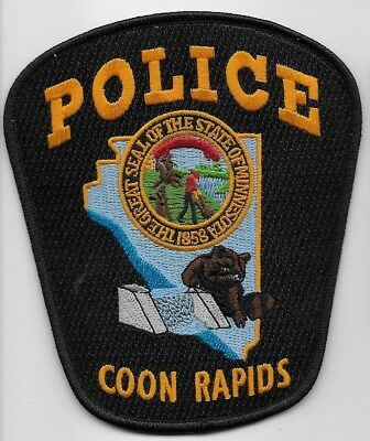 Coon Rapids Police State of Minnesota MN Shoulder Patch