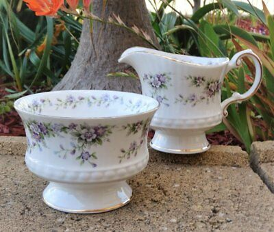 SUGAR BOWL & MILK JUG *Elizabethan Bone China England* Hand Decorated CHANTILLY