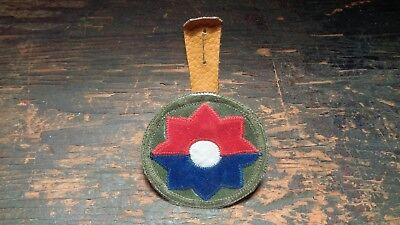 RARE Vietnam vintage 9th Infantry Division uniform pocket patch Theater made