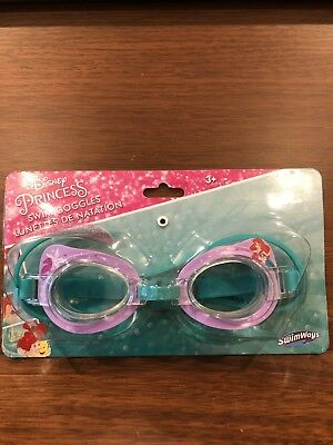 3b1a962f6184 SWIMWAYS DISNEY PRINCESS Little Mermaid Ariel Swim Goggles for Girls Ages 3+  NEW -  7.99