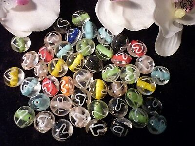 Bulk Lot Approx 200 grams  OF MIXED GLASS BEADS!!!!!!! NEW