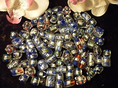 Bulk Lot Approx 200 grams OF MIXED GLASS BEADS!!!!!! NEW