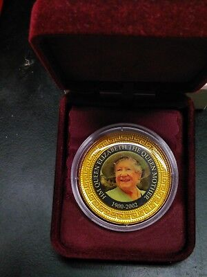 2002 Unknown, $1 gilt coin, The Queen Mother