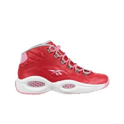 d11147476fc Reebok QUESTION MID GIRLS (SCARLET LIGHT PINK WHITE) Youth Shoes M44062