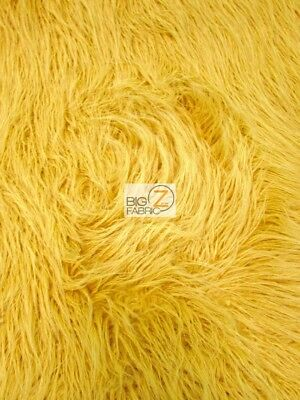 YETI MONGOLIAN FAUX FAKE FUR FABRIC - Mimosa - BY THE YARD COAT COSTUME CURLY