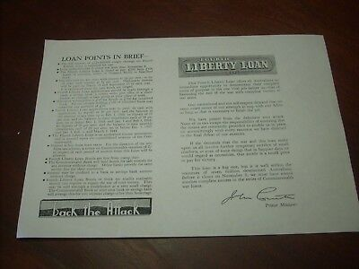 Bank Advertising Commonwealth War Loan 57 & 64 1943 1945 1946 Forms