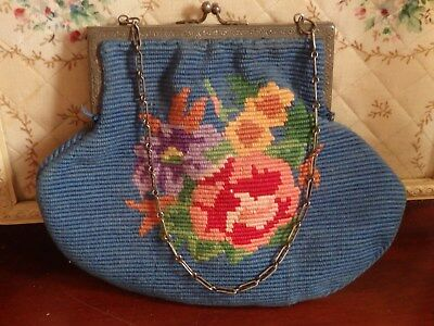 Vintage floral cotton handbag