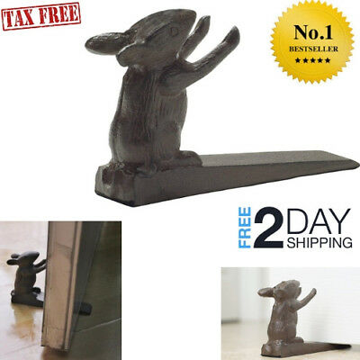Vintage Cast Iron Mouse Door Stop Wedge by Lovely Decorative Finish, Padded