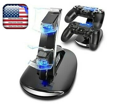 PS4 Dual Controller Charger Dock Station USB Fast Charging Stand