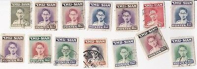 12 Siam used stamps various values