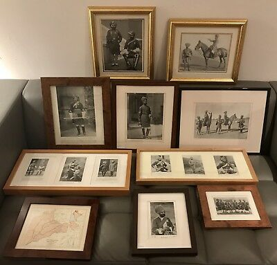 1897 Army/Navy Illustrated 'Native Army' 10 Framed Prints Sikh Military Regiment