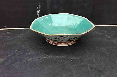 chinese antique 19th century hand painted dish.