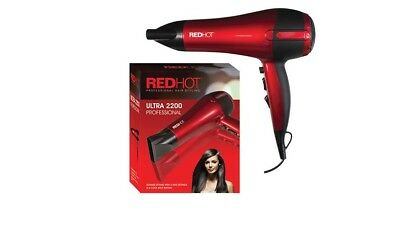 2200W Professional Style Red Hot Hair Dryer Concentrator Nozzle Blower Pro Salon