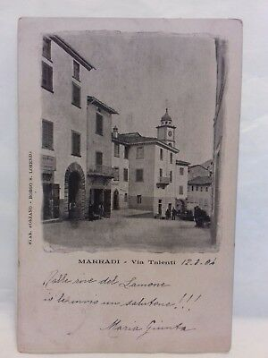 Cartolina Marradi Firenze via talenti animata. 1904